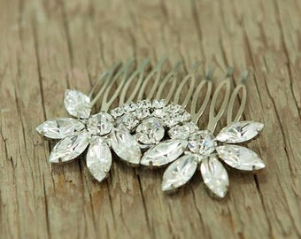 BRIDAL hair comb - wedding hair jewelry, vintage style, wedding HAIR ACCESSORIES sparkle Rhinestones,