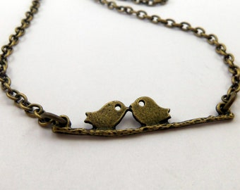 Two in a Tree - Bird Branch Necklace