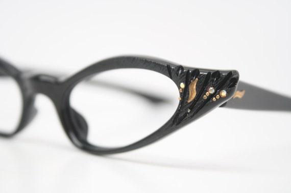 cat eye glasses rhinestone cateye eyeglasses NOS Vintage