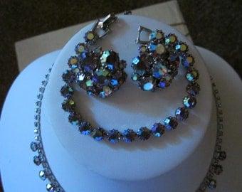 Vintage Jewelry SALE , Necklace, Bracelet, Earrings, Weiss Jewelry, Weiss Set, Vintage Weiss