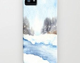 iPhone Case Mid-Winter Musing - Snowy Landscape - Designer iPhone Samsung Case
