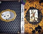 SALE 2 Halloween Goth n Spooky Journals blank lined