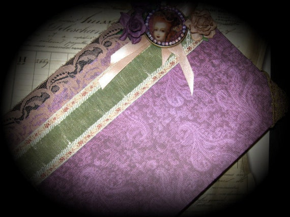 SALE Neo Victorian Rococo Marie Antoinette Journal Goth Shabby