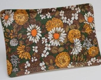 Funky Vintage Floral Melamine Tray