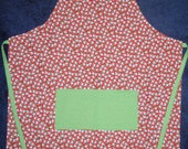 adult apron christmas apron snowman print red and green