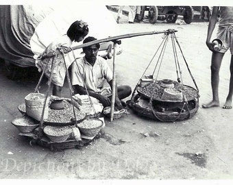 Merchant of Red Fort Old Delhi, India,1963 Fine Art Photography Print