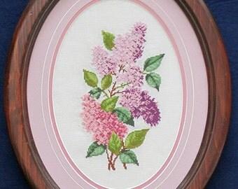 Lilac Spray -  Helen Burgess Design 4041- Counted Cross Stitch Chart