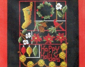 Holiday Sampler - Cross Stitch Sampler Chart by Prairie Grove Peddler