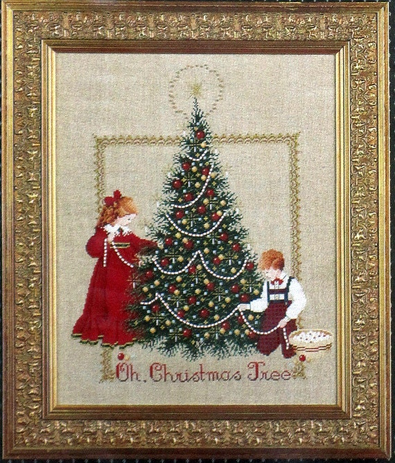 The Song Oh Christmas Tree: Oh Christmas Tree A Cross Stitch Design By