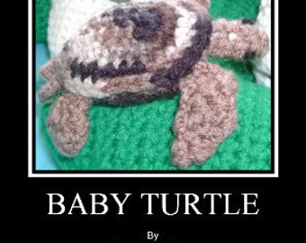 Baby Turtle with Egg PDF Crochet Pattern by CreationsByGems