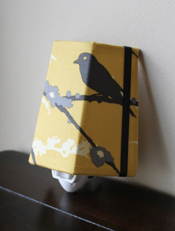SALE!! Vintage Yellow Sparrows - Night Light