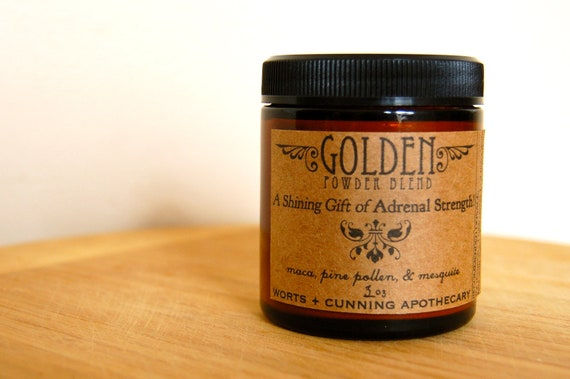 Golden Herbal Powder Blend -  3 oz - Organic - A Shining Gift of Adrenal Strength