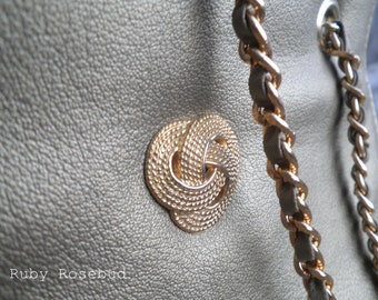 Vintage Champagne Gold Chain Handbag