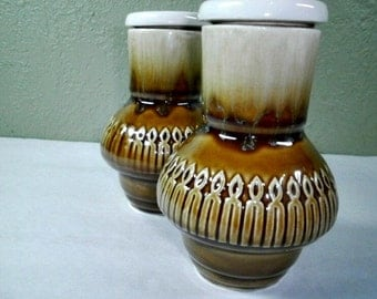 Vintage Japanese Sake Decanters,  Brown Drip Pottery, Cork Stopper Lids, Home Bar Ware, Tea Servers, Serve Ware