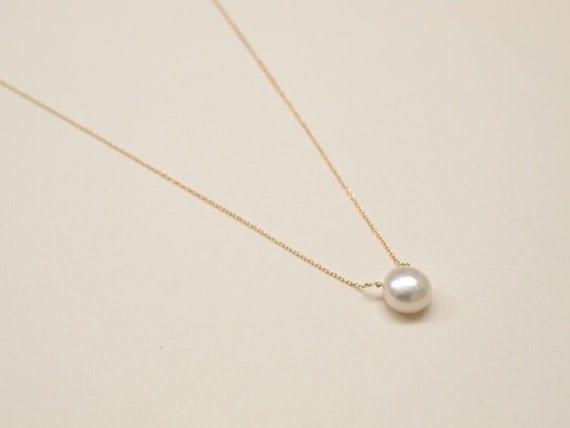 Gold pearl pendant necklace gurhan mm freshwater white baroque gold pearl pendant necklace pearl pendant gold filled necklace aloadofball Choice Image