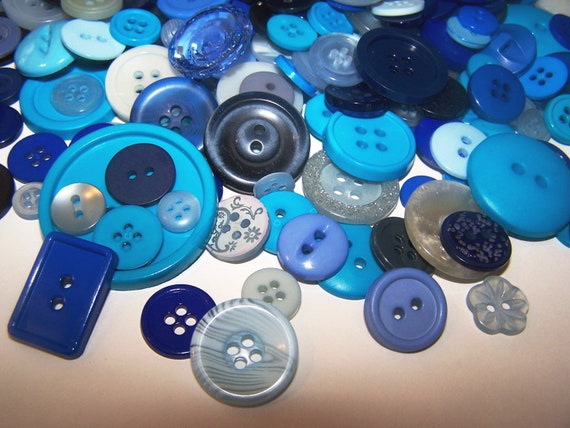 50 Blue Buttons Navy Blue Buttons Blue Berries Bulk Buttons Bulk Blue Buttons Sewing Buttons Sky Blue Mixed Media TT Team Button Jewelry
