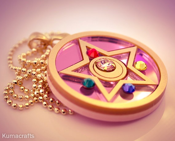 MADE TO ORDER Sailor Moon R Inspired Crystal Star Compact Necklace/Pendant Laser Cut Acrylic