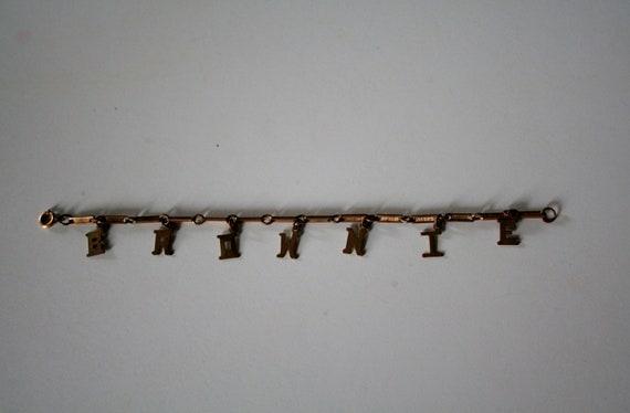 vintage Scouts Brownie bracelet
