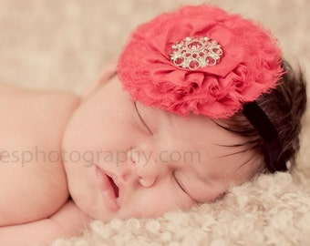 Shabby Baby Headband, Dupioni Silk Rosette Vintage Headband Fascinator Couture Baby Toddler Women Headband Photo Prop NO.12-52
