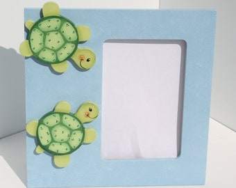 Handpainted Turtles Picture Frame