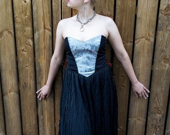 Vamp Corset  overbust midriff corset custom made to order