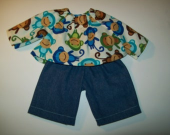 """Waldorf  and Cabbage Patch Boy Doll Clothes Sizes 10"""" 12"""" Or 15"""""""