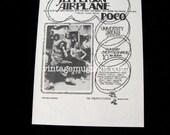 Jefferson Airplane Poco  Fillmore Era Concert Handbill University Arena Psychedelic Albuquque New Mexico Randy Tuten