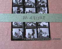 """SIXTIES Nude Contact Sheet  2 BUSTY Women Erotic Explicit Photos 8 1/2""""  x 11"""" Sex Sexual Natural"""