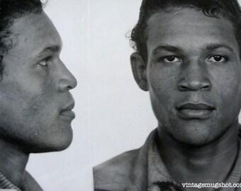 1947 San Francisco  Police Department Criminal MUG SHOT Alias Sampson 20 Year old Man