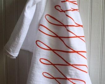 Swirl Tea towel hand screened