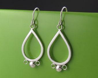 Sterling Silver Handmade Teardrop Earrings