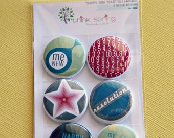 6 Badge Buttons - Me New