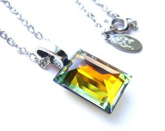 LAST ONE Art Deco Color Changing Vintage Swarovski Crystal Necklace