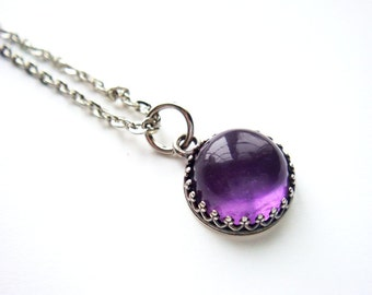 Natural Purple Amethyst Necklace