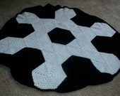 Soccer  Baby Afghan PATTERN ONLY