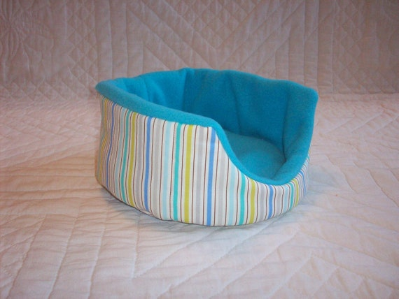 Bluesy Striped Small Animal Cuddle Cup for Guinea Pig Hedgehog Rat Small Animals