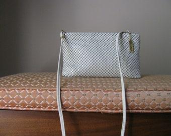 Vintage Cream Color Small Whiting and Davis Clutch Shoulder Bag Crossbody Bag