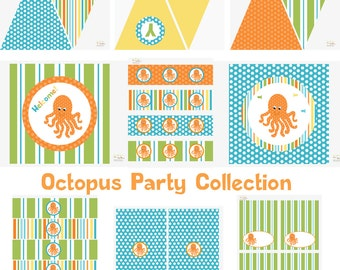 Under the Sea Birthday, Under the Sea Birthday Decorations, Under the Sea Baby Shower Decorations, Under the Sea Party Decorations, Octopus
