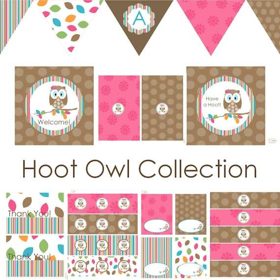 Owl Birthday Owl Baby Shower Owl Birthday Decorations Owl