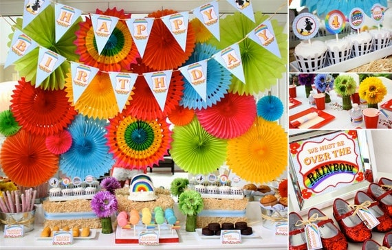 Items Similar To Wizard Of Oz Inspired Party Decorations