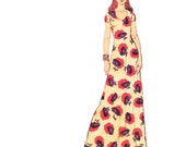 1970s Dress Vintage Pattern/UNCUT and FF Simplicity 6082 / Misses Jiffy Knit Dress Pattern/ Size 12