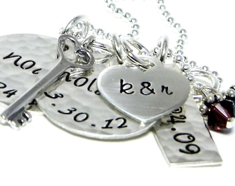 Mom Necklace - Personalized Hand Stamped Jewelry - Family
