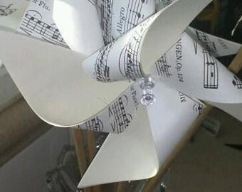 Vintage Sheet Music Pinwheel Sample