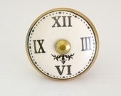 """PRIVATE LISTING for LISA - 5 clock face knobs with steampunk & industrial look for furniture 1 1/2"""""""