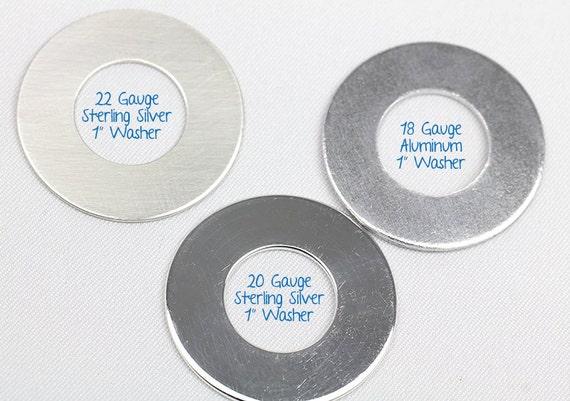 1 Aluminum Alloy Hand Stamped Latitude and Longitude single Coordinates Washer Key Chain