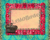INSTANT DOWNLOAD Web Graphic Funky Crown commercial use ok great for Facebook or blog