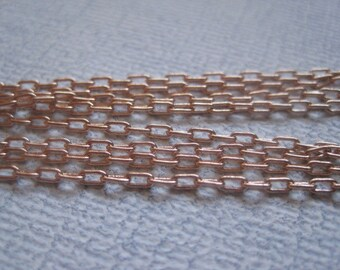 """Rosegold Unfinished Cable Chains  18""""- You get 5"""
