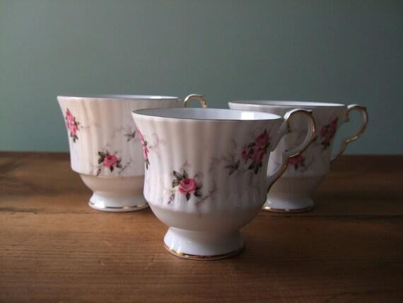 Princess House Hammersley Teacups Bone China Set of 3