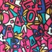 Vintage Fabric Letters Shapes Crazy Late 80s