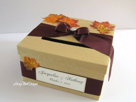 Fall Wedding Gift Card Box : Unavailable Listing on Etsy